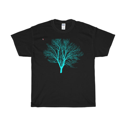 Cyan Tree - Heavy Cotton T-Shirt