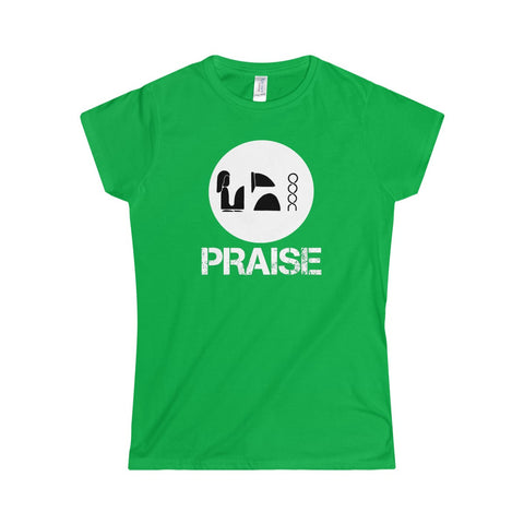 Praise Kek White Softstyle Women's T-Shirt