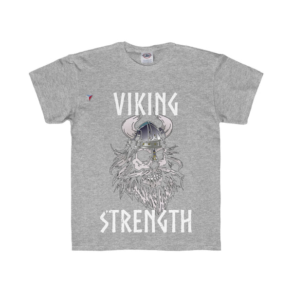 White Viking Gym Youth Regular Fit Tee