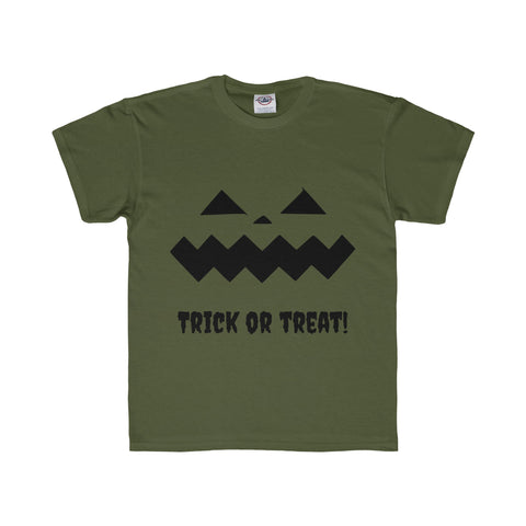 Halloween Pumpkin Black Youth Regular Fit Tee