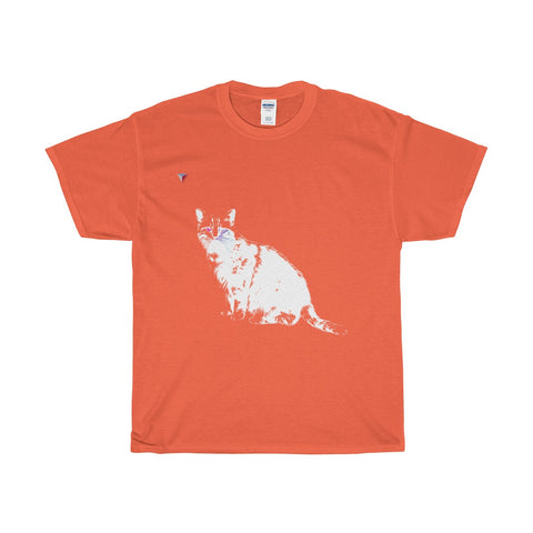White Cat Heavy Cotton T-Shirt