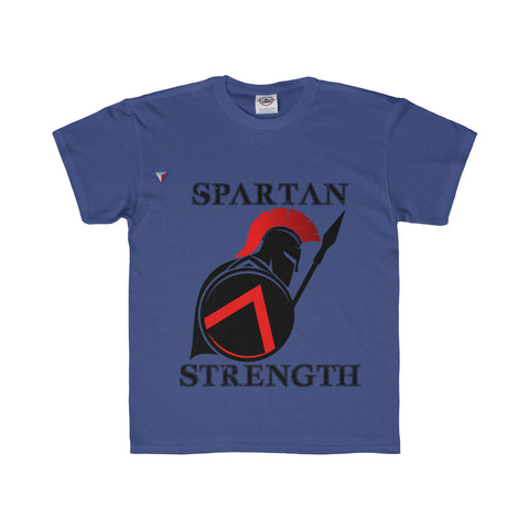 Spartan Strength Black - Youth Regular Fit Tee