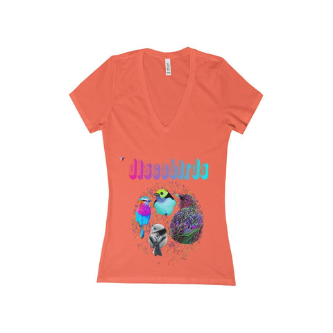 Discobirds Women's Deep V-Neck Jersey Tee