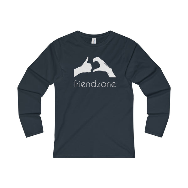 Friendzone White Ladies' Long Sleeve T-Shirt