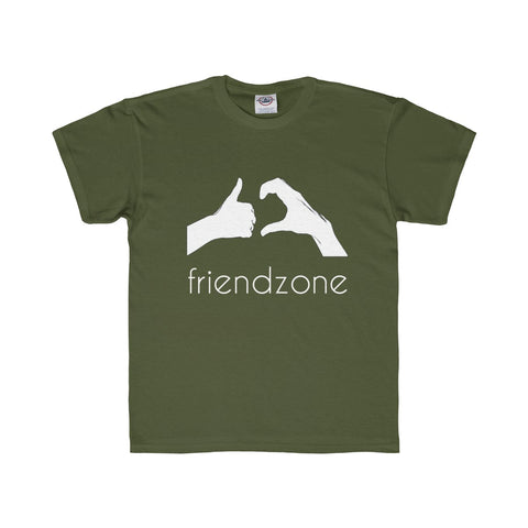 Friendzone White Youth Regular Fit Tee