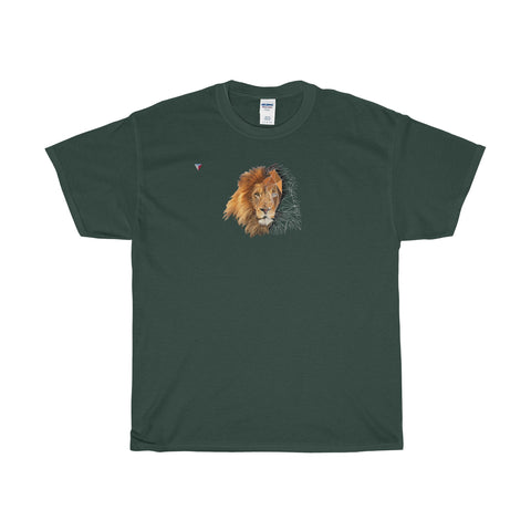 Lion Polygon - Heavy Cotton T-Shirt