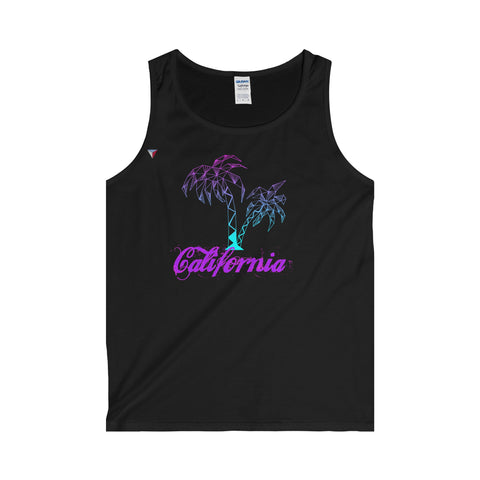 California Palm Tree Neon - Adult Tank Top