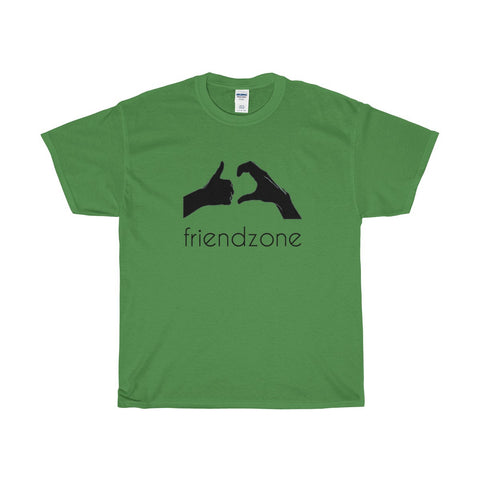 Friendzone Black Heavy Cotton T-Shirt