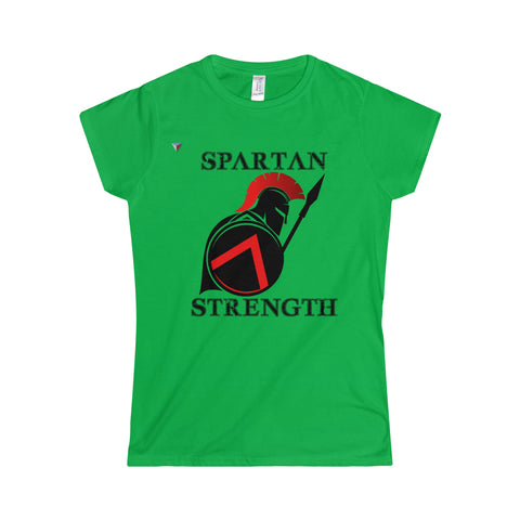 Spartan Strength Black - Softstyle Women's T-Shirt