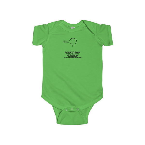 Quack Man Infant Fine Jersey Bodysuit