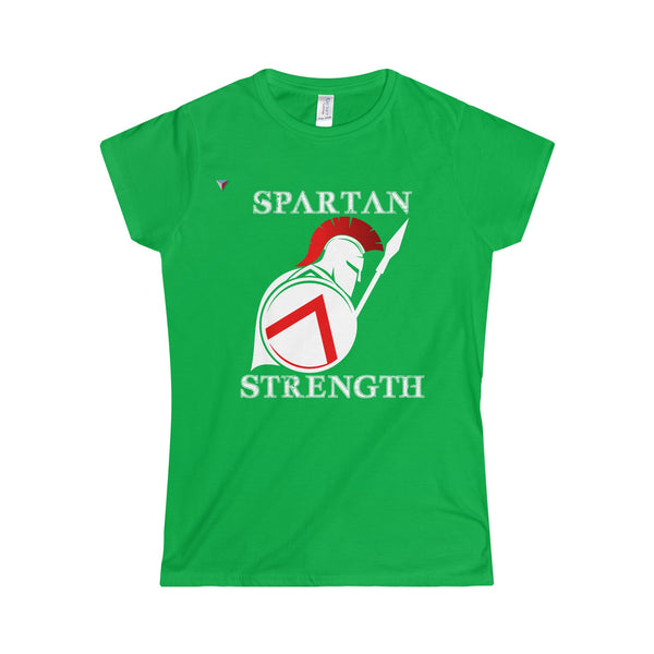Spartan Strength White - Softstyle Women's T-Shirt