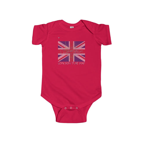 London Tube Map Infant Fine Jersey Bodysuit