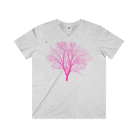 Pink Tree Softstyle® Adult V-Neck T-Shirt