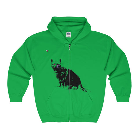 Black Cat Full Zip Hooded Sweatshirt