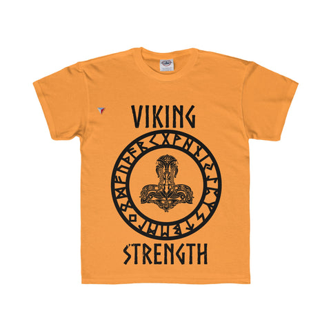 Viking Black Youth Regular Fit Tee