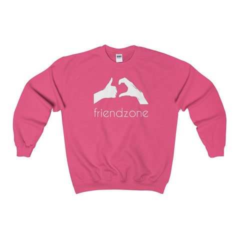 Friendzone White Heavy Blend™ Adult Crewneck Sweatshirt