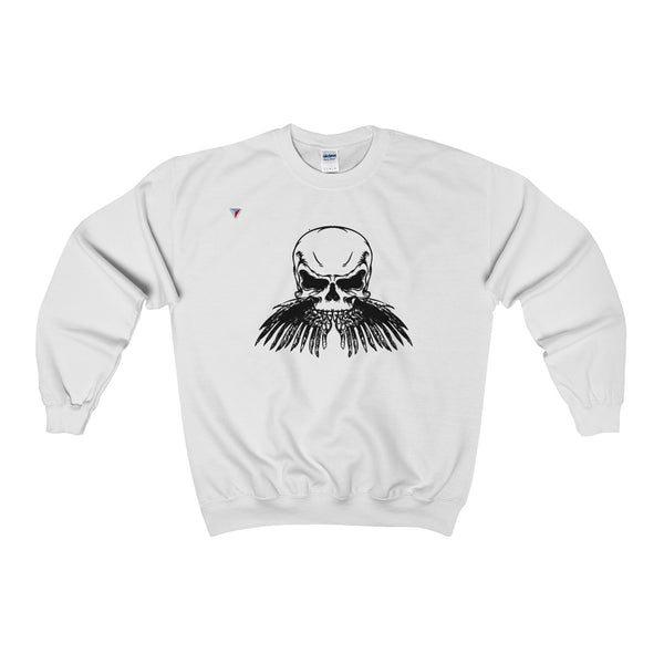 Black Skull Heavy Blend™ Adult Crewneck Sweatshirt
