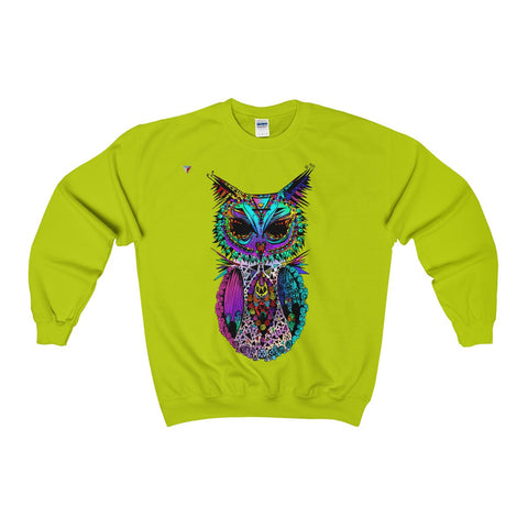 Mandala Owl Heavy Blend™ Adult Crewneck Sweatshirt