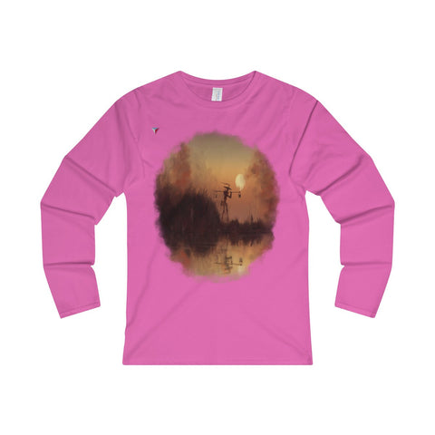 Japanese Sundown Ladies' Long Sleeve T-Shirt