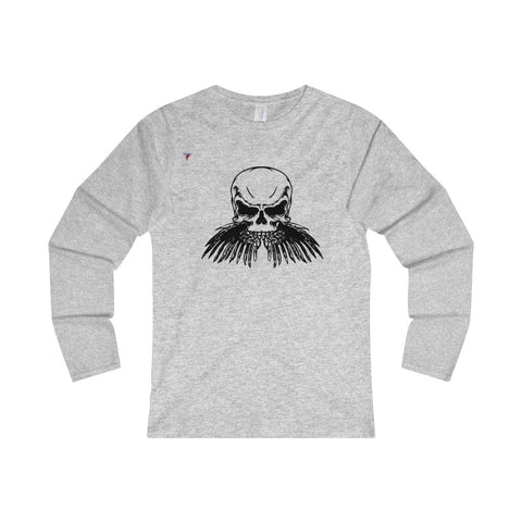 Black Skull Ladies' Long Sleeve T-Shirt