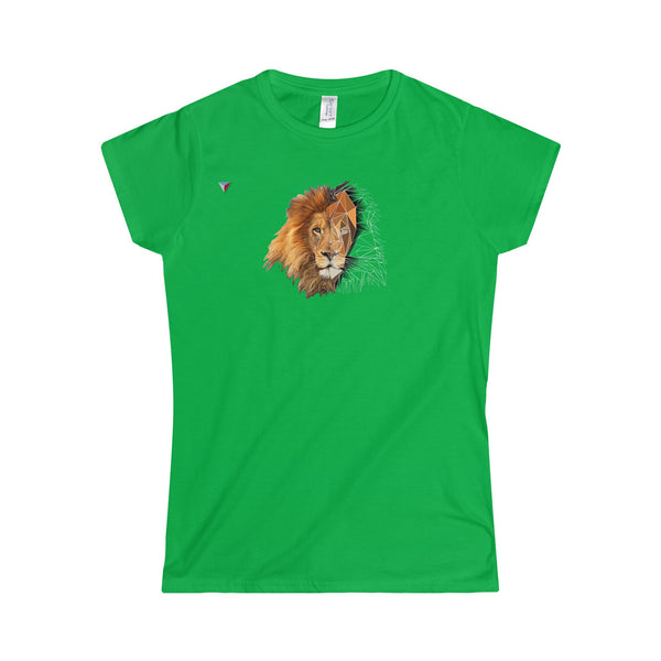 Lion Polygon - Softstyle Women's T-Shirt