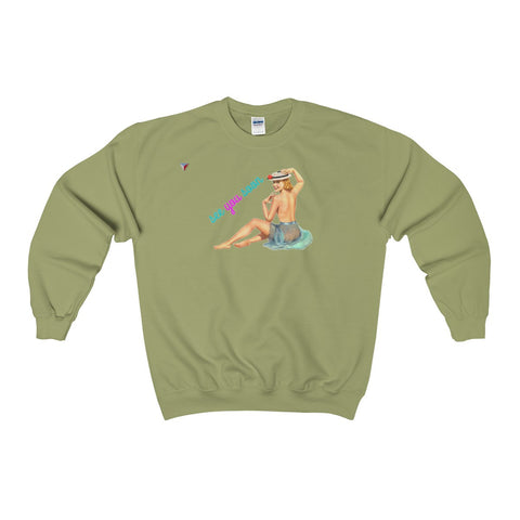 See You Soon Pin Up Heavy Blend™ Adult Crewneck Sweatshirt