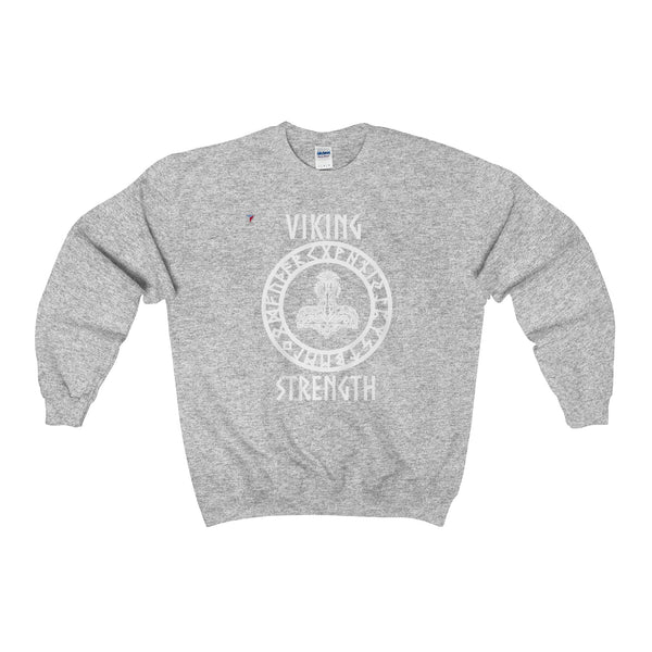 Viking White Heavy Blend™ Adult Crewneck Sweatshirt