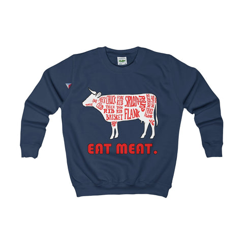 Eat Meat Kids AWDis Sweat