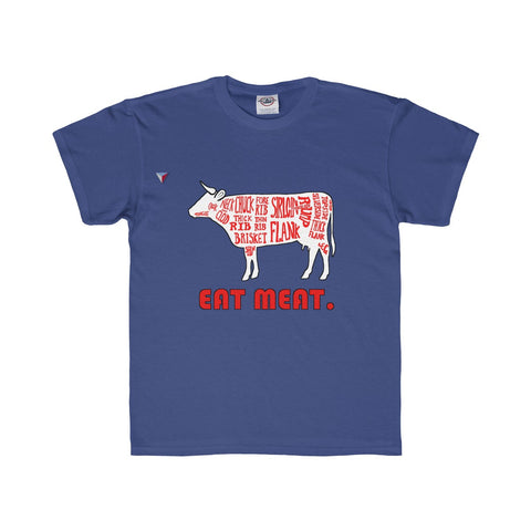 Eat Meat Youth Regular Fit Tee