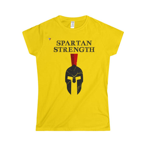 Spartan Strength Black Gym Softstyle Women's T-Shirt