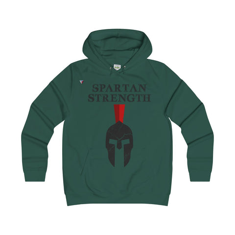 Spartan Strength Black Gym Girlie Hoodie