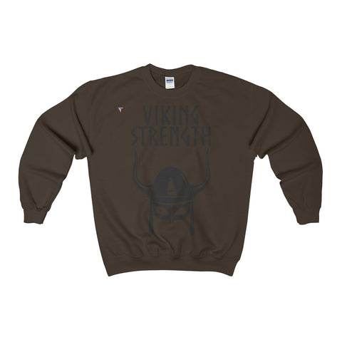Viking Strength Black Gym Heavy Blend™ Adult Crewneck Sweatshirt