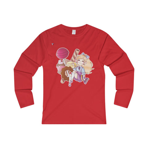 Cute Girl With Sweets Ladies' Long Sleeve T-Shirt