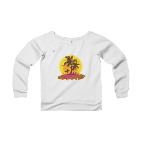 Hawaii Aloha Style Women's Sponge Fleece Wide Neck Sweatshirt