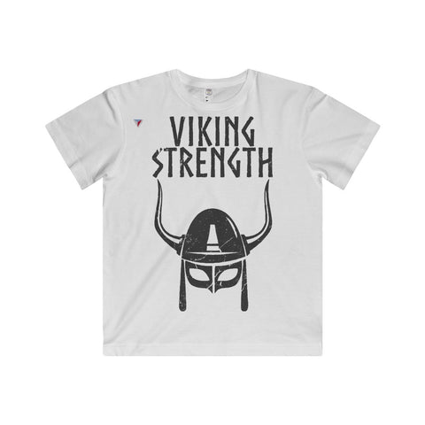 Viking Strength Black Gym Youth Fine Jersey Tee