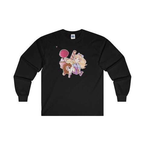 Cute Girl With Sweets Ultra Cotton Long Sleeve T-Shirt