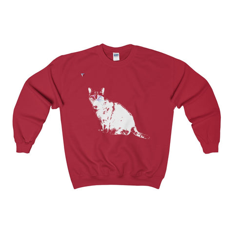 White Cat Heavy Blend™ Adult Crewneck Sweatshirt