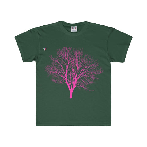 Pink Tree Youth Regular Fit Tee