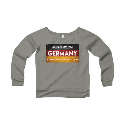 Germany Fun Facts Women's Sponge Fleece Wide Neck Sweatshirt
