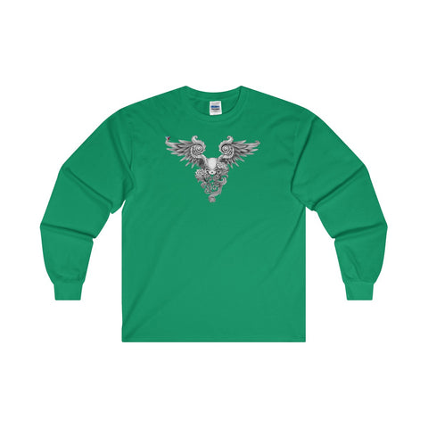 Winged Skull Ultra Cotton Long Sleeve T-Shirt