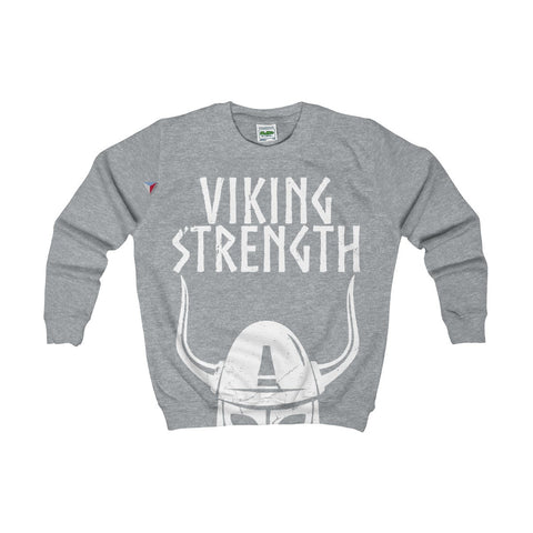 Viking Strength White Gym Kids AWDis Sweat