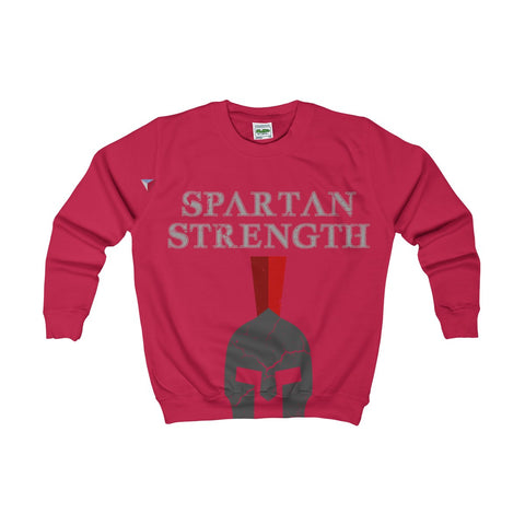 Spartan Strength Grey Gym Kids AWDis Sweat