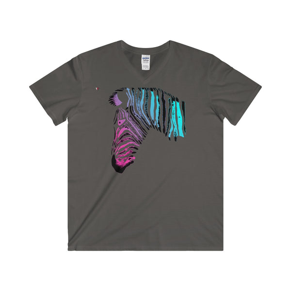 Neon Zebra Softstyle® Adult V-Neck T-Shirt