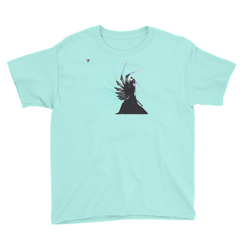 Samurai In Motion Youth Short Sleeve T-Shirt