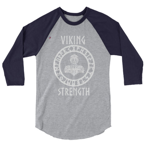 VikingStrengthShield - W 3/4 sleeve raglan shirt