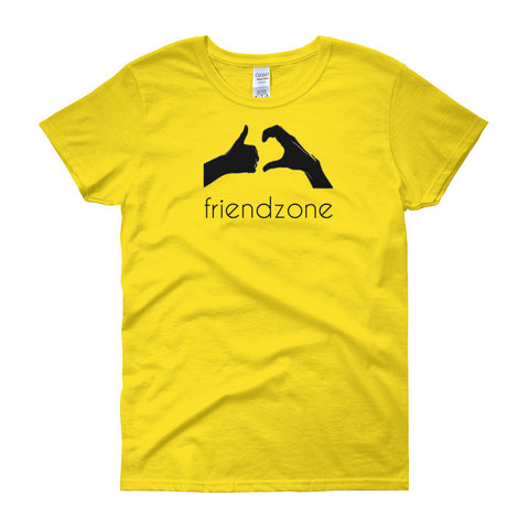 Friendzone Black Women's short sleeve t-shirt