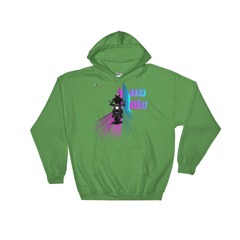 NeonRider Hooded Sweatshirt