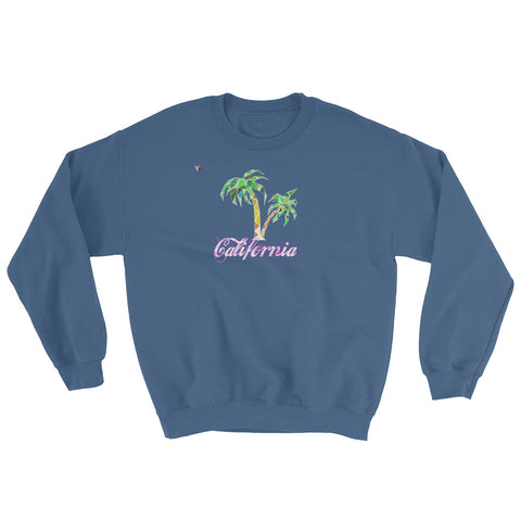 California Palm Tree Heavy Blend Crewneck Sweatshirt