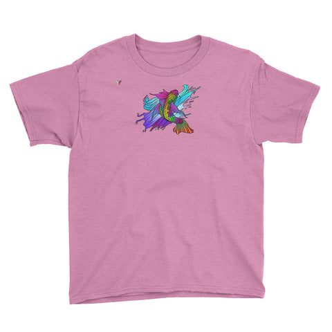 Rainbow Koi Carp Youth Short Sleeve T-Shirt