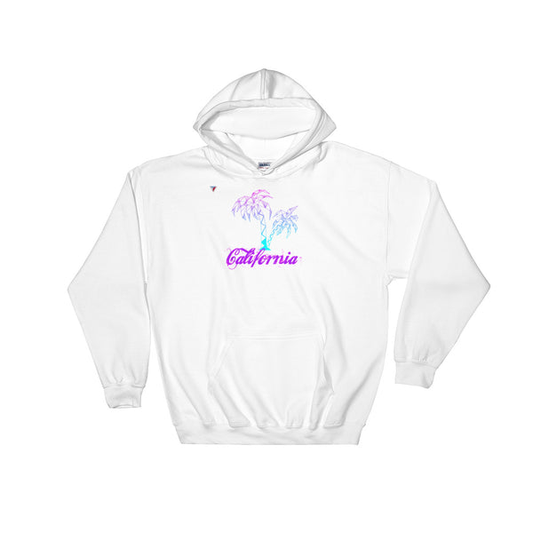 California Palm Tree Neon Hooded Sweatshirt